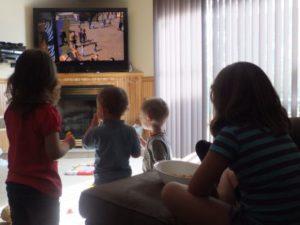 Kids Watching Madagascar