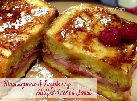 Mascarpone & Raspberry Stuffed French Toast
