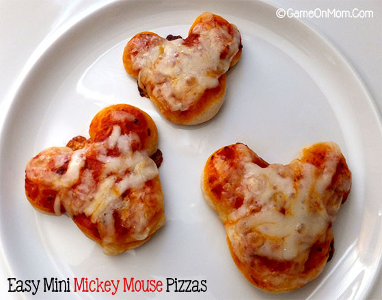 Easy Mini Mickey Mouse Pizzas