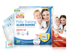 Potty Patrol Potty Training Alarm Diapers Starter Kit
