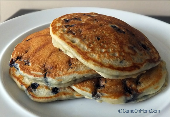 Blueberry Buttermilk Pancakes with Olive Oil