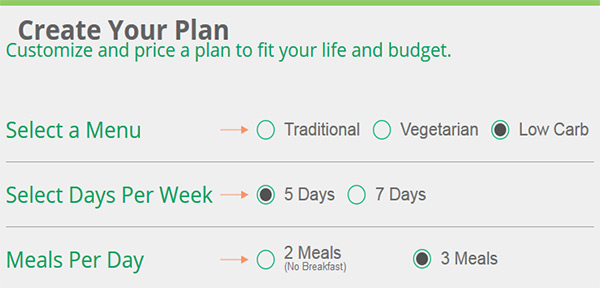 Diet-to-Go: Customize Your Plan
