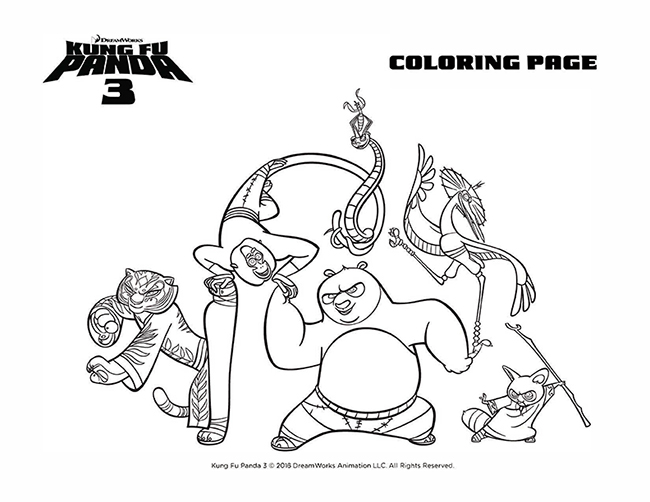 Kung Fu Panda 3 Awesome Edition Coloring Pages