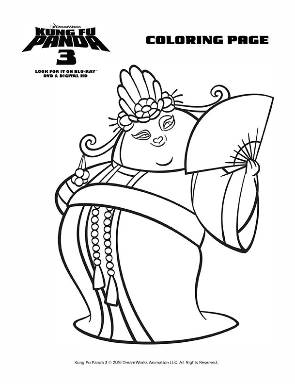 Kung Fu Panda 3 Awesome Edition + Coloring Pages - Game On Mom