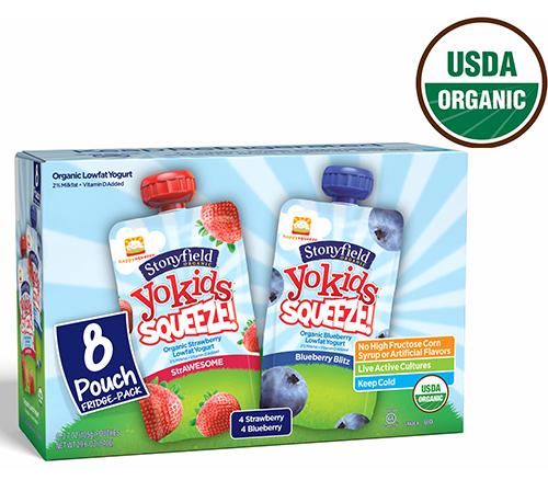 Stonyfield Yokids Organic Yogurt Pouch