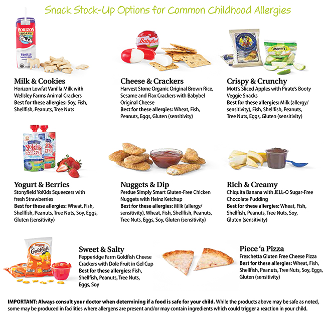 Snack Stock Up Options for Allergies