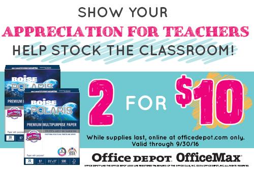 Stock the Classroom with Boise Polaris Premium Multipurpose Paper