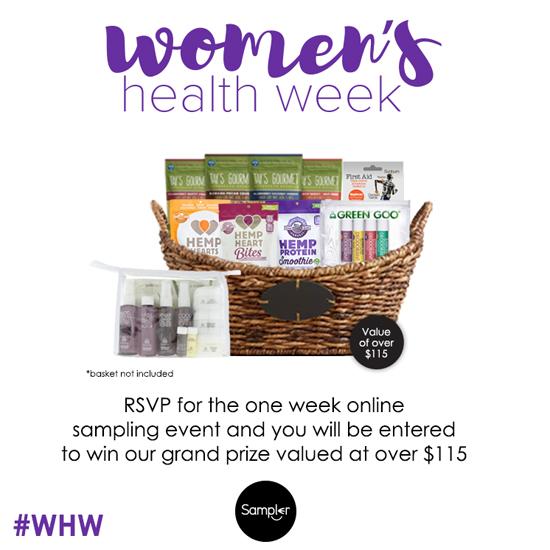 women u0026 39 s health week sampling event
