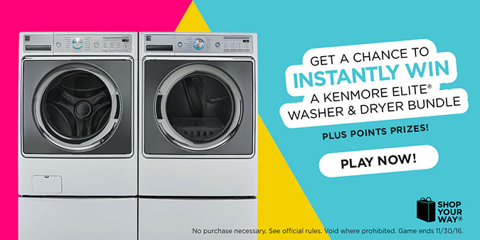 Instantly Win A Kenmore Elite Washer And Dryer Bundle And
