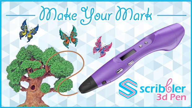Make Your Mark with the Scribbler 3D Pen