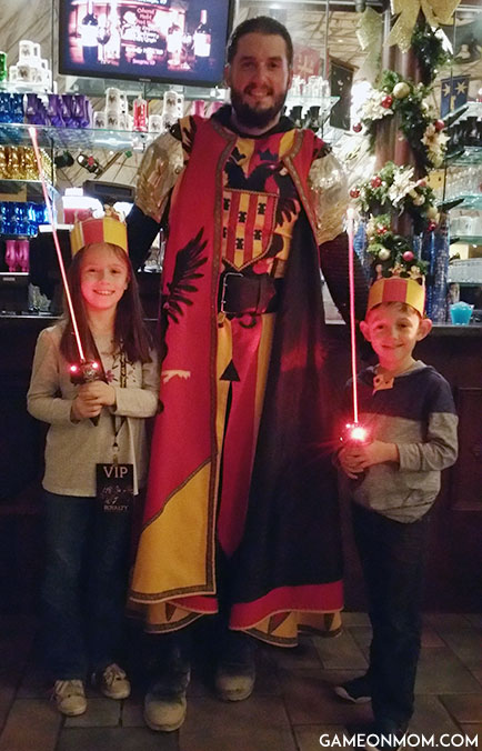 The Red & Yellow Knight at Medieval Times