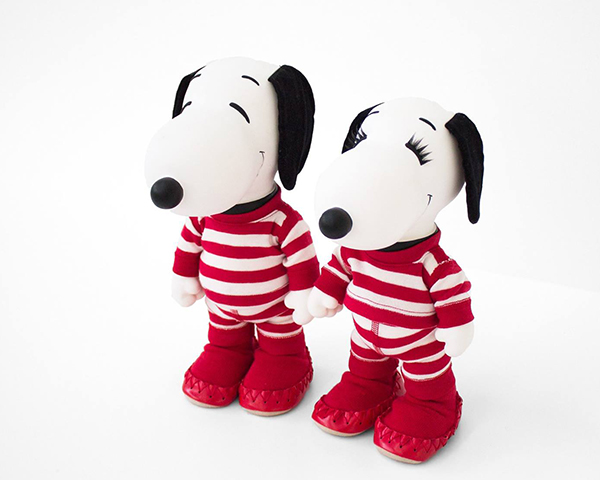 Snoopy & Belle in Hanna Andersson