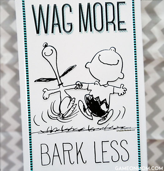 Peanuts Tin Sign: Wag More; Bark Less.