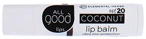 All Good Coconut Lip Balm SPF 20