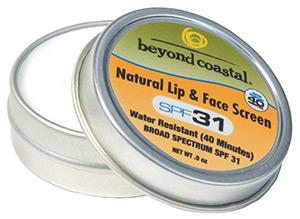 Beyond Coastal Natural Lip And Face Screen Spf