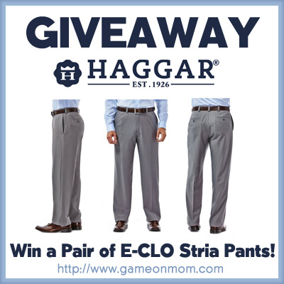 Haggar E-CLO Stria Dress Pant Giveaway