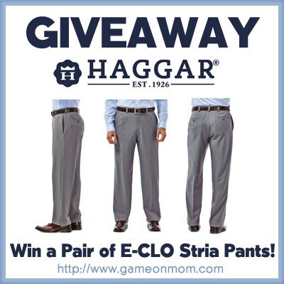 Haggar E-CLO Stria Dress Pant Giveaway