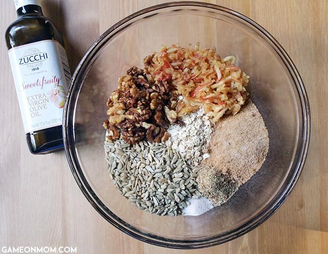 Olive Oil, Apple, Oat Granola
