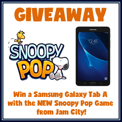Snoopy Pop Samsung Tablet Giveaway