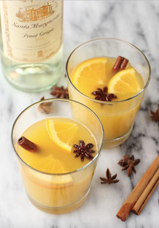 Halloween Cocktails - Cinnamon Orange Blossom Cocktail
