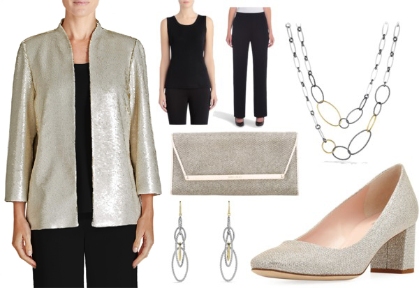 Misook Sequin Jacket - Holiday Outfit
