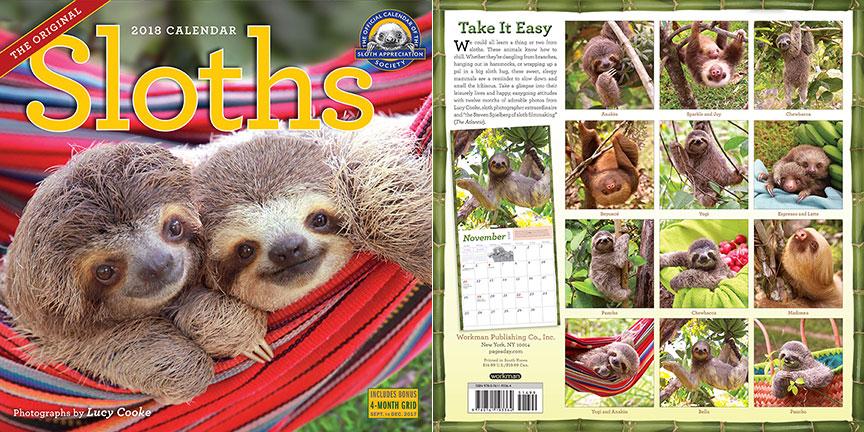 Sloths Calendar