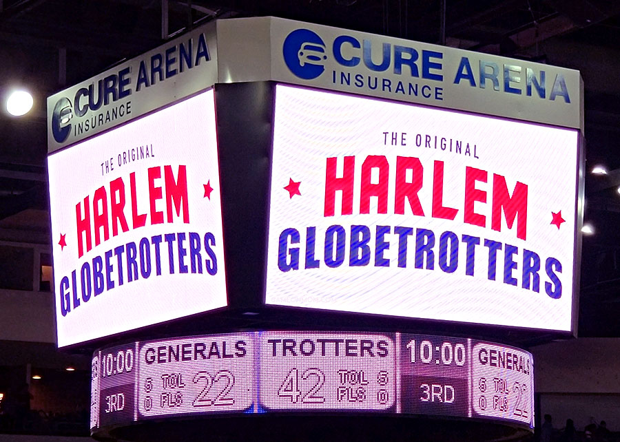 Harlem Globetrotters Game at Cure Arena in Trenton, NJ